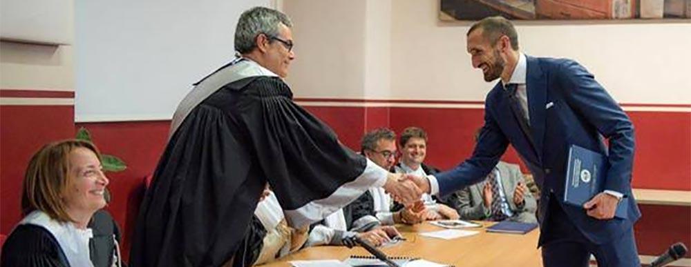 Giorgio Chiellini, laurea