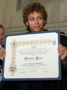 Valentino Rossi laureato