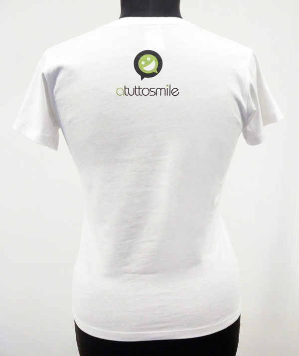 T-Shirt #naggidea donna vista posteriore