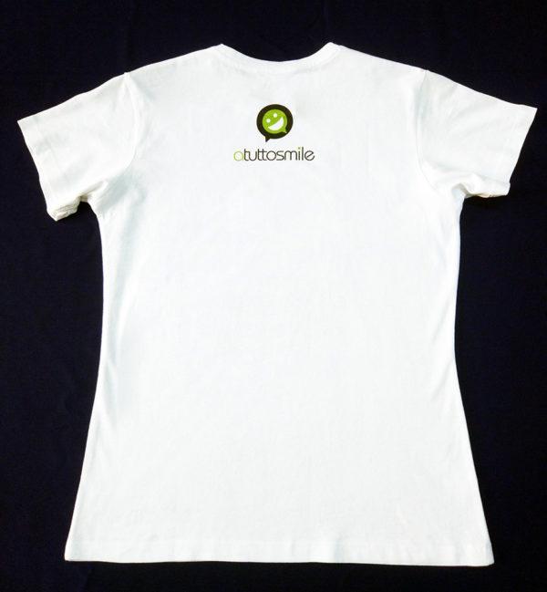 T-Shirt #naggidea uomo vista posteriore